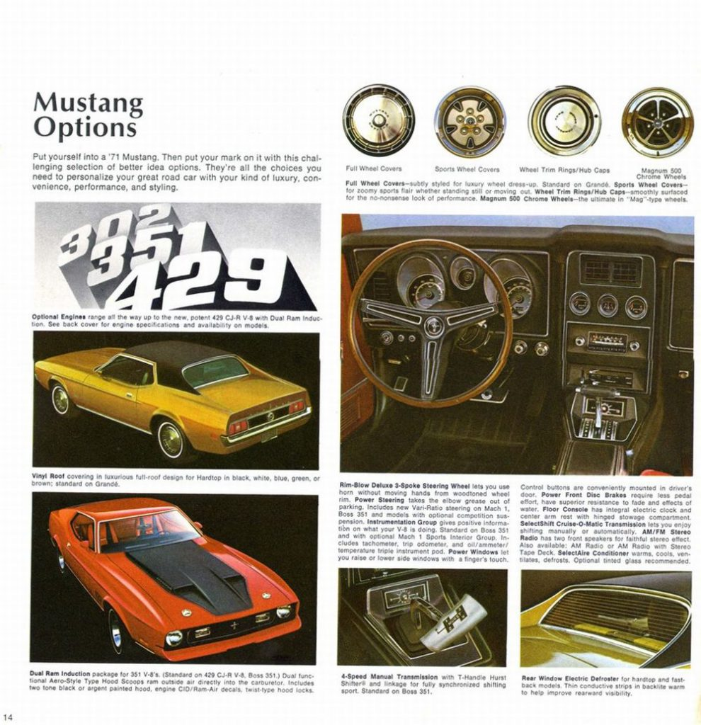 ford mustang fastaback 1971 pub 07 echoretro. Black Bedroom Furniture Sets. Home Design Ideas