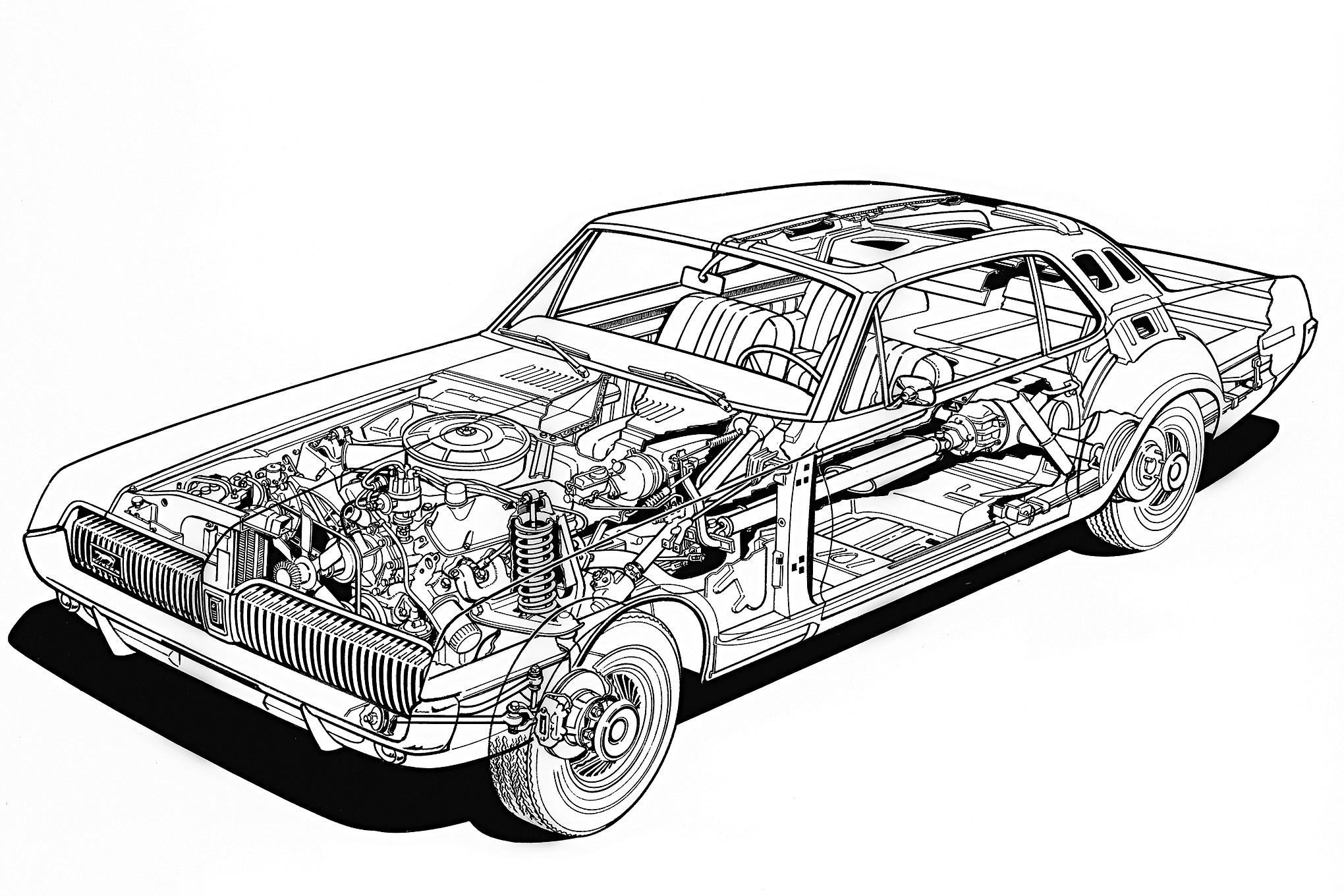 mercury cougar  1970  ecorch u00e9